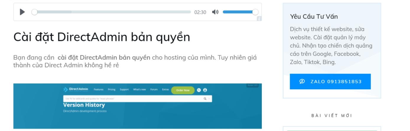 Plugin TTS Zalo - Text To Speak VietNamese